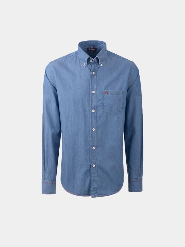 Camisa denim regular fit