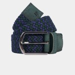 Cinturón trenzado bicolor