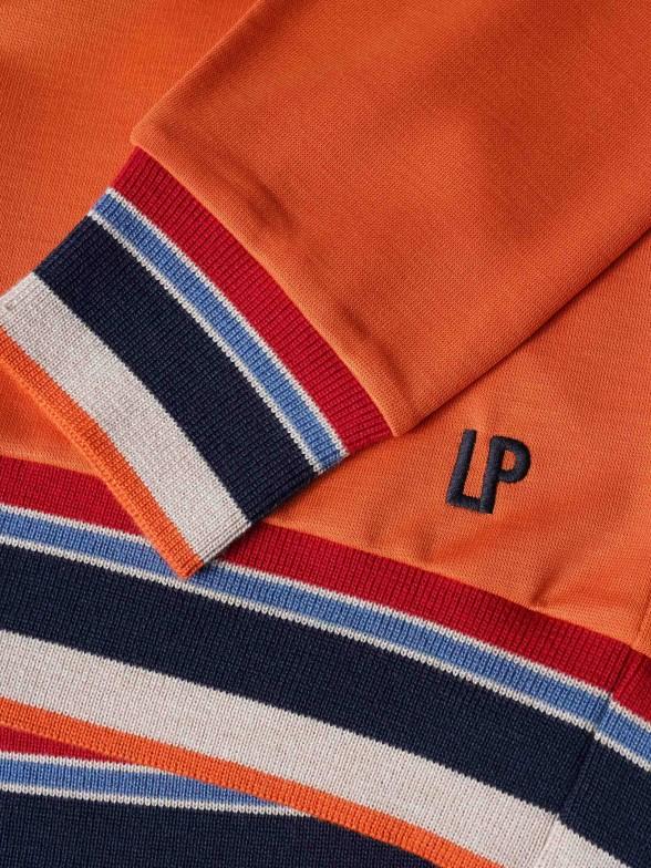 Camisola em Lyocell com detalhe riscas multicolores