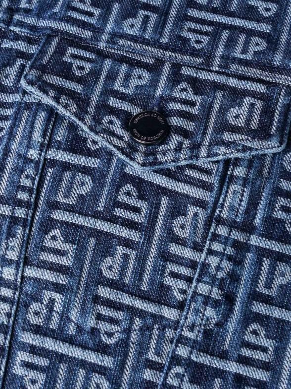 Blusão em jaquard monogramas