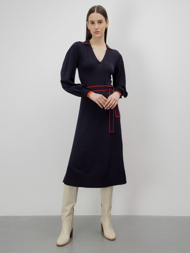 Long dress in premium quality knit