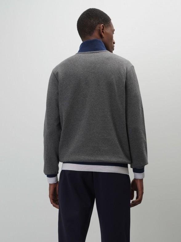 Camisola manga comprida com fecho