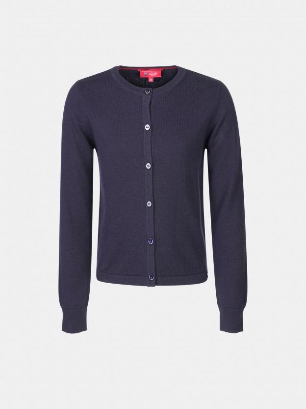 Basic cotton and cashmere cardigan