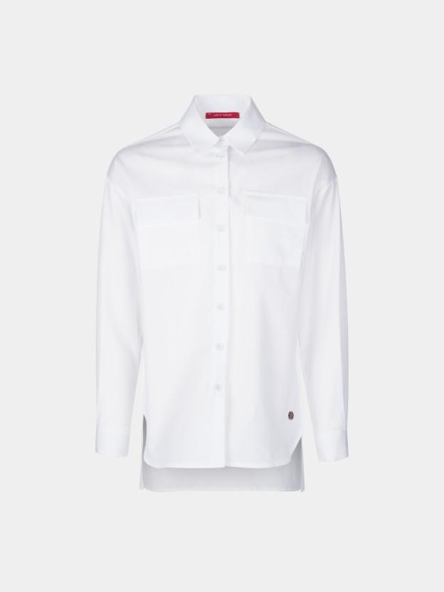 Asymmetrical oversize shirt