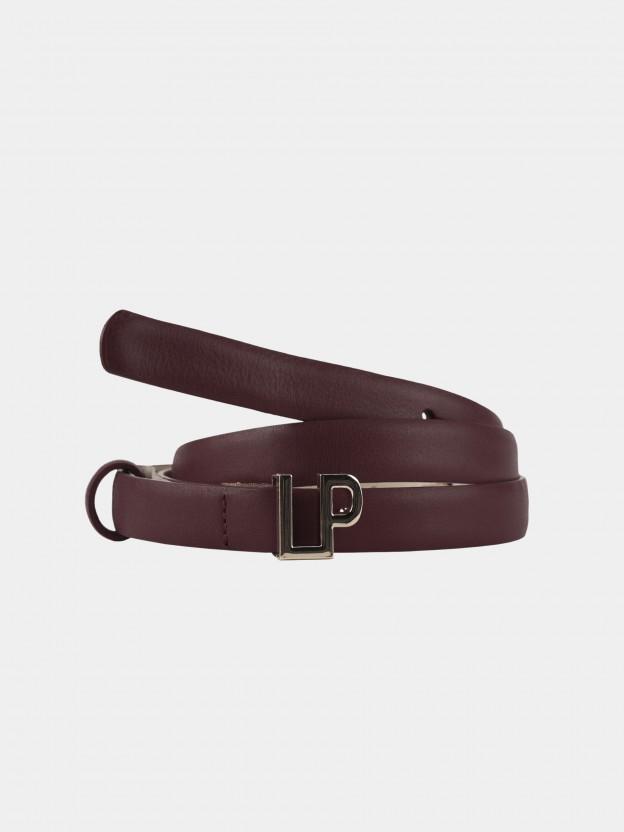 Cinturón con hebilla de monograma
