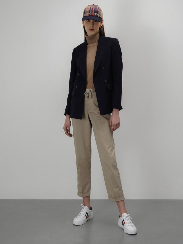 Chino pants in stretch cotton