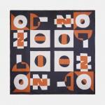 Pañuelo 100% seda con estampado gráfico
