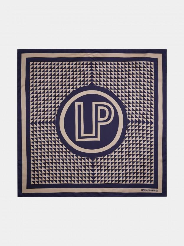 Pañuelo de 100% seda con monograma