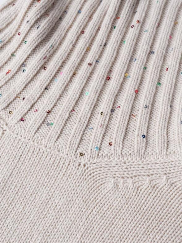 Camisola gola alta com lantejoulas