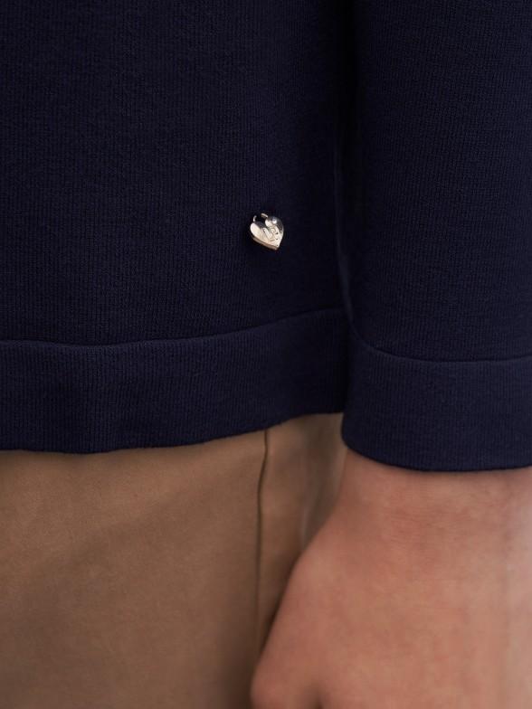 Cardigan detalhe de canelado
