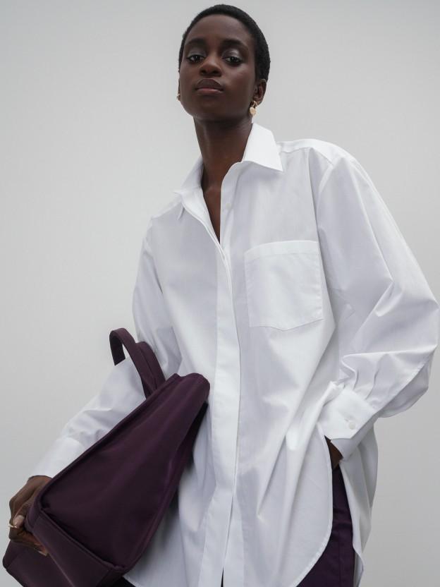 Oversize asymmetric shirt