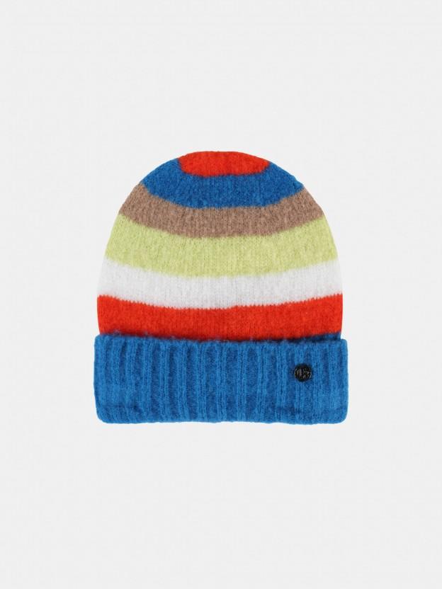 Gorra estructurada con rayas