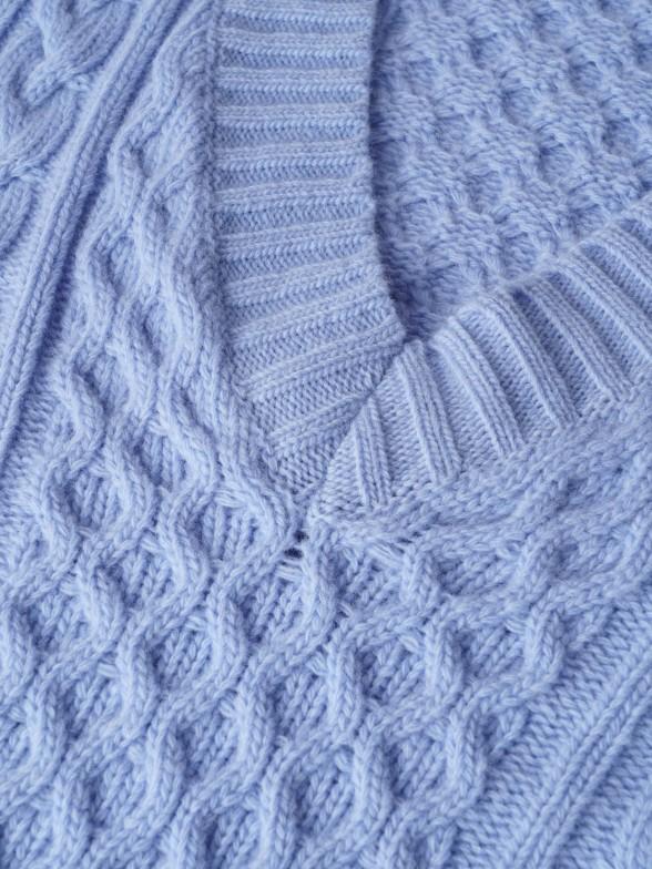 Camisola entrançada 100% lã