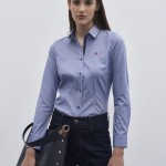 Slim fit shirt with placket detail