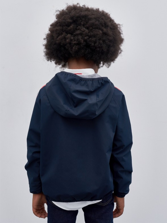 Blusão manga comprida com capuz