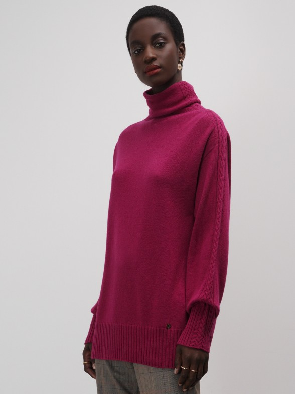 Camisola gola alta relaxed fit