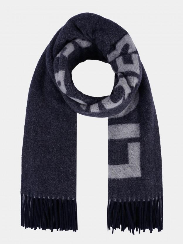 Cachecol em lã com lettering