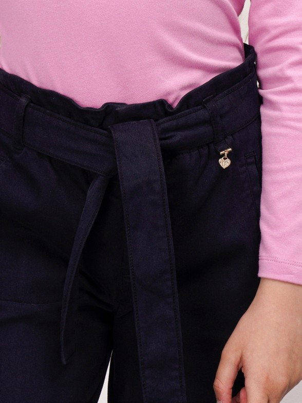 Calças culotte azuis