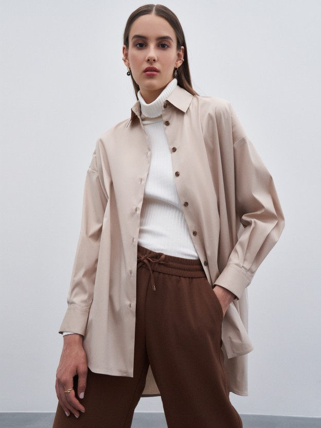 Oversized asymmetric shirt