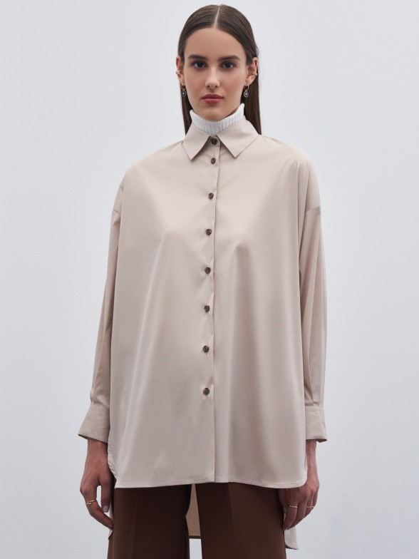 Camisa assimétrica oversize