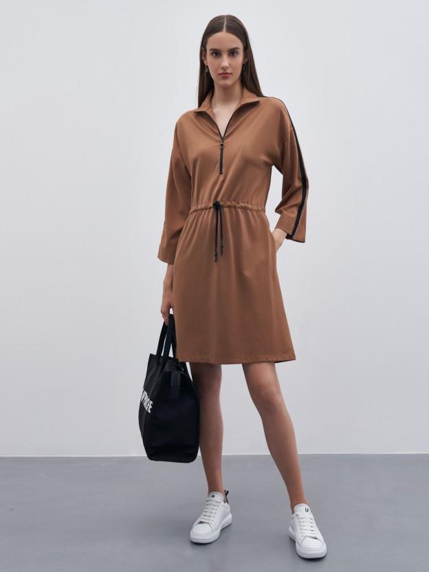 Bicolor short dress
