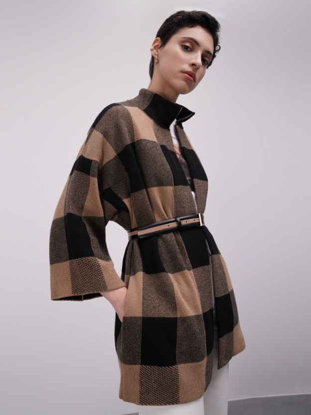 Oversize jacquard jacket