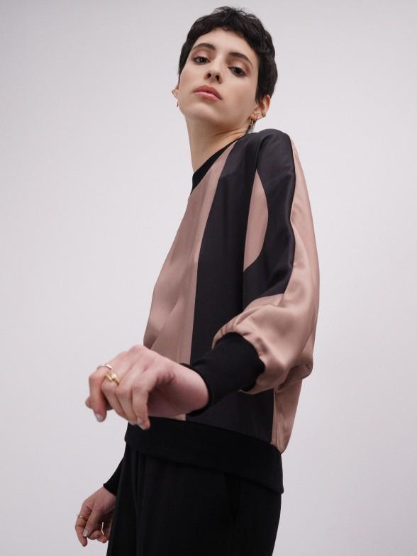 Camisola kimono com monograma