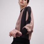 Jersey kimono con monograma