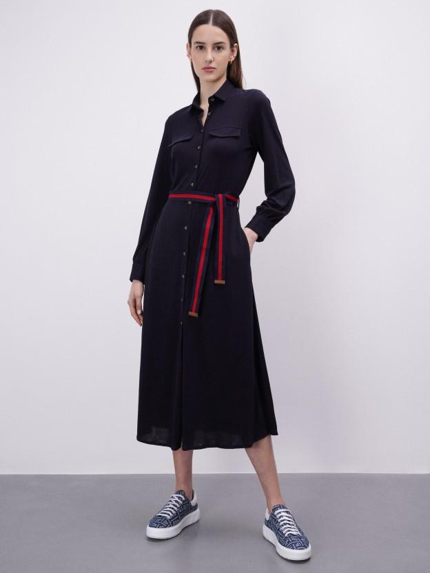 Vestido camisero de lyocell